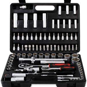 Caja de herramientas 94 piezas, juego de llaves combinadas ...