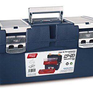 Caja de herramientas de plástico Tayg n. 16, azul, rojo, 500 x 258 ...