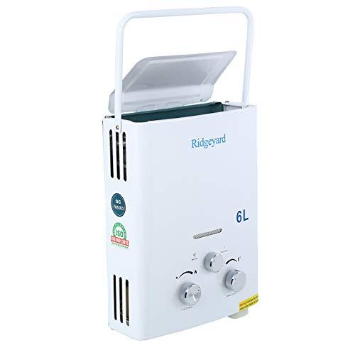 Calentador de gas propano instantáneo Ridgeyard 6L LPG. D ...