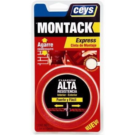 Ceys CEY400507240 Blister Tape Montack Express, Rojo Transp ...