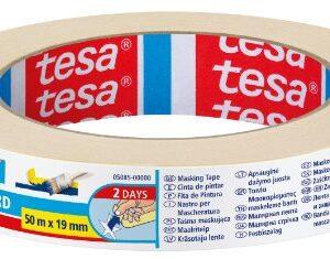 Cinta adhesiva de pintura estándar Tesa (19 mm x 50 m)
