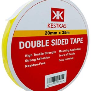Cinta de doble cara extrafuerte multifunción KESTKAS (20 mm x 25 ...