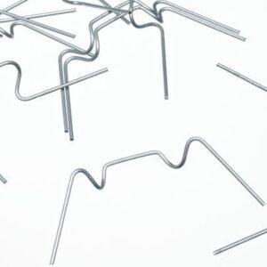 Clips de acristalamiento de alambre galvanizado x 100 para invernaderos