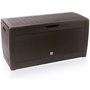 Cofre de almacenamiento Deuba Cofre marrón con capacidad 310L ...