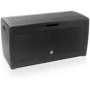 Cofre de almacenamiento Deuba Cofre negro con capacidad de 310L para ...