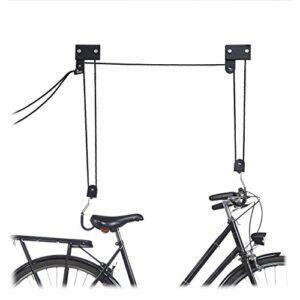 Colgador de techo de bicicleta Relaxdays, metal, negro, hasta 45 k ...