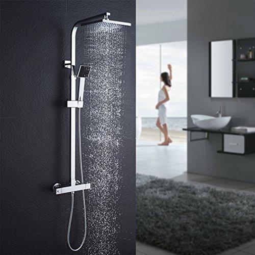 Columna de ducha termostática Auralum con columna de ducha R ...