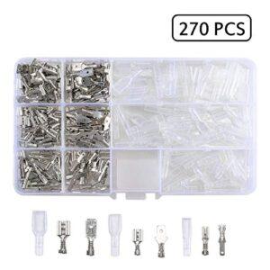 Conector Cable eléctrico Macho Hembra Conectores, 270 piezas Kit ...
