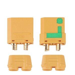Conectores de batería XT90-S de 1 par, enchufes hembra