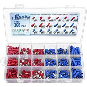 Conectores eléctricos de 360 piezas, kit de terminal mixto mixto Sopoby ...