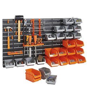 Conjunto de 44 piezas de cubos de almacenamiento y ganchos VonHaus con ...