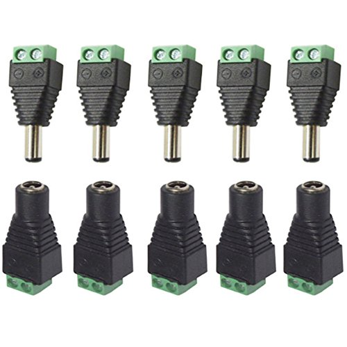 Conjunto de 5 conectores de corriente continua macho / hembra de UNHO ...
