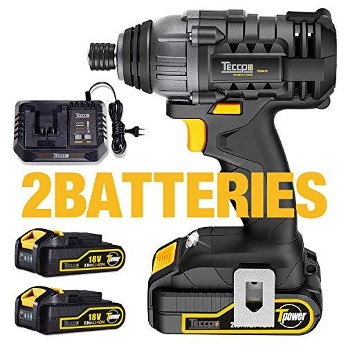 Controlador de impacto, controlador de batería TECCPO 180Nm 1 ...