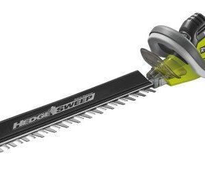 Cortadora de setos eléctrica Ryobi 5133002125, 750 W, verde