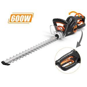 Cortadora de setos eléctrica TACKLIFE, cortasetos de 600 W, ancho de 20 mm ...