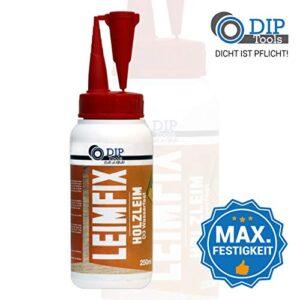 DIP-Tools LEIMFIX Pegamento de madera a prueba de agua con un ...