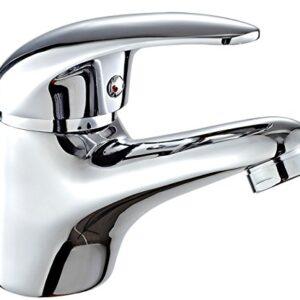 DP Faucet - Grifo monomando para lavabo, color plata, ...