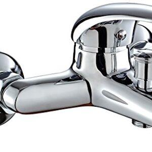 DP Faucet SN-0001 Grifo para bañera, color plateado