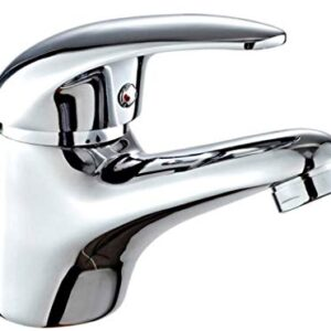 DP Tap GS10080 Grifo monomando para lavabo, plateado