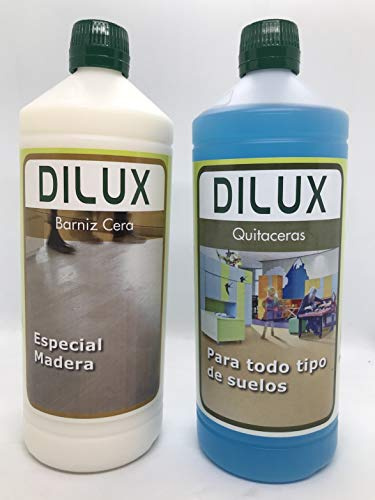 Dilux - Wax Varnish Pack for wooden floors 1 L + Remover ...