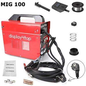 Display4top Soldadora de alambre continua sin gas MIG 100 220V Máquina ...