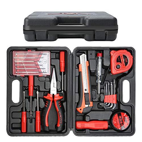 E · Kit de herramientas de caja de herramientas duraderas de 21 piezas