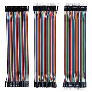 ELEGOO 120 piezas de cable DuPont, 40 pines macho-hembra, 40 ...