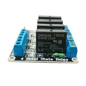 Ecloud Shop® Relé de estado sólido de alto nivel de 5V y 4 canales ...