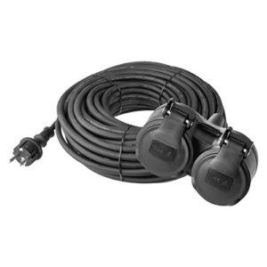 Emos H05RR-F3G - Cable de extensión con 2 enchufes Schuko (doble ...