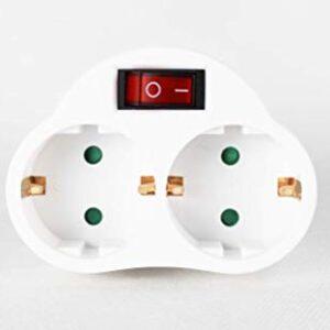 Enchufe con conector de interruptor Schuko | 2 capas de tapón ...