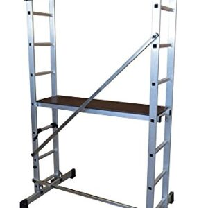 Escalera ALTIPESA - Andamio profesional de aluminio 2x7 peld ...