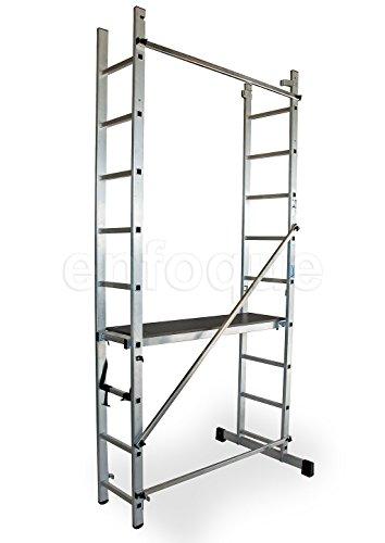 Escalera ALTIPESA - Andamio profesional de aluminio 2x9 peld ...