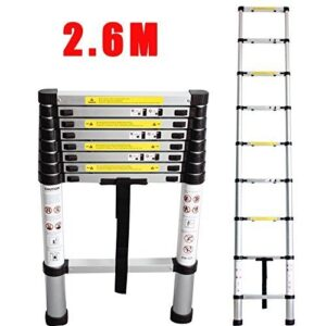 Escalera Telescópica de Aluminio CohesiveTech - 2.60 m, 9 Pa ...