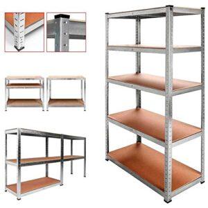 Estantería de metal galvanizado 875kg 5 estantes Medidas 180 x ...