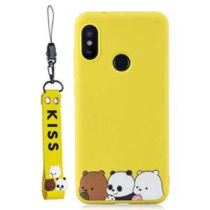 EuCase Case Xiaomi Mi A2 Lite Silicone Drawings Case Redm ...