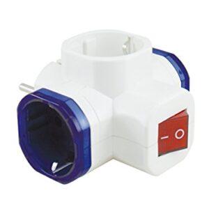 F-Bright Plug para enchufes triples, blanco, 0,48 cm