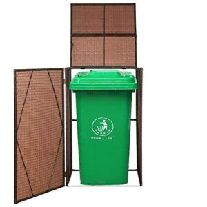 FESTNIGHT Contenedor de basura Cobertizo Almacén Cobertizo ...