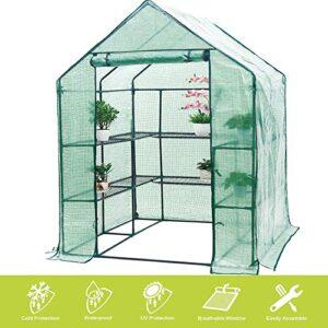 FOBUY - Invernadero de plástico PE compacto con 6 estantes y ...