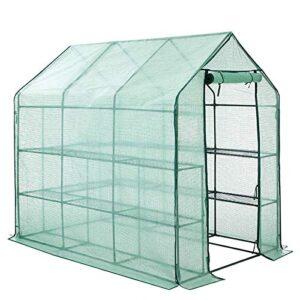 FOBUY - Invernadero de plástico PE compacto con 8 estantes y ...