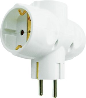 Garza Power - Adaptador lateral triple (3 enchufes Schuko) con ...