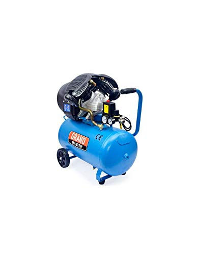 Grandmaster - Compresor de aire 50 litros 2200W Dos cilindros ...