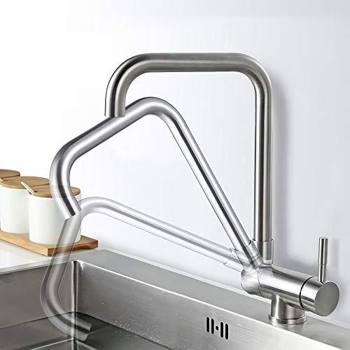 Grifo de cocina giratorio AiHom para fregadero giratorio de 360 ° ...