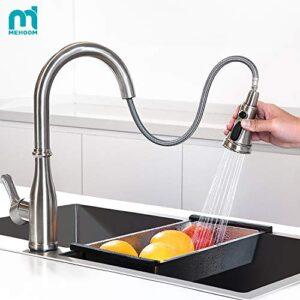 Grifo de cocina, grifo de cocina MEHOOM con ducha extraíble 3 V ...
