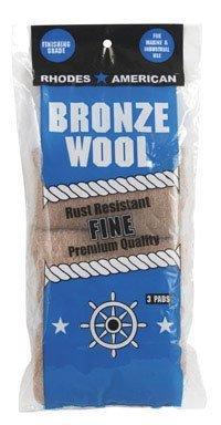 HOMAX PRODUCTS 123100 Almohadilla de lana fina de bronce, paquete de 3 de Homax ...