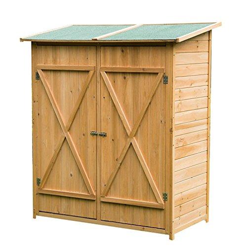 HOMCOM Garden Cabinet Tools Garden 165x140x75 cm Cob ...
