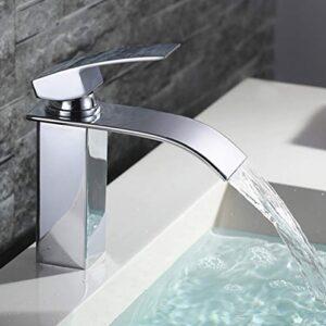 HOMELODY Grifo para fregadero en cascada para baño Grifo monomando ...
