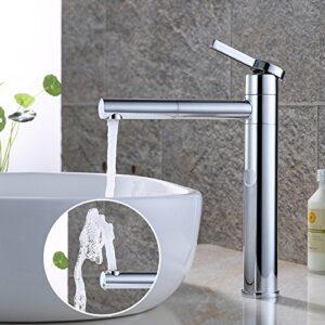 HOMELODY Grifo para lavabo cromado Caño giratorio 360 ° Monom ...