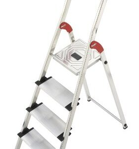 Hailo 8040-401 Escalera de tijera de aluminio (4 peldaños)