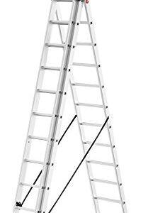 Hailo 9312 - Escalera combinada de aluminio 507 ProfiLOT, 3 pies ...
