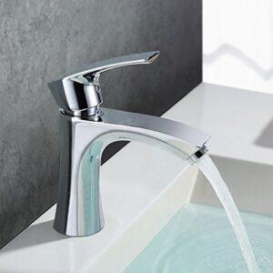 Homelody - Grifo para lavamanos, acabado cromo antirruido con ...